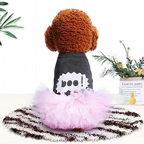 QHorse Festliche Kleidung Kostüme Zubehör Pet Supplies Haustier Katze Kostüm Prinzessin Frühling und Sommer Puff Rock Teddy Bomei lässig süß als Bär Neue Welpen Hundebekleidung Comfort fit Frühjahr (Fit-puff)