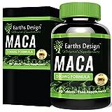 Maca Extrakt – Maximal Potenter Maca Wurzelextrakt für Frauen und Männer – Reich an Zink & Magnesium - Geeignet für Vegetarier - 90 Tabletten (3 Monate Vorrat) von Earths Design