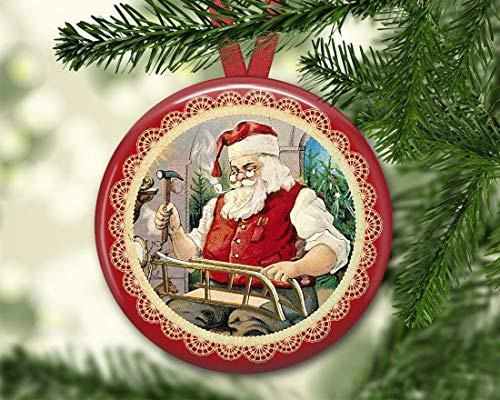 (Dozili Weihnachtsmanndekoration – Vintage Weihnachtsbaumschmuck – Viktorianische Santaaments für Weihnachtsdekorationen – Küche Dekor)