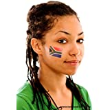 5 x South Africa Temporary Tattoo Set - South Africa Fan Tattoo Flag - Rugby World Cup 2015