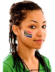 Südafrika Tattoo Fahne 5er Fan Set - South Africa Flag
