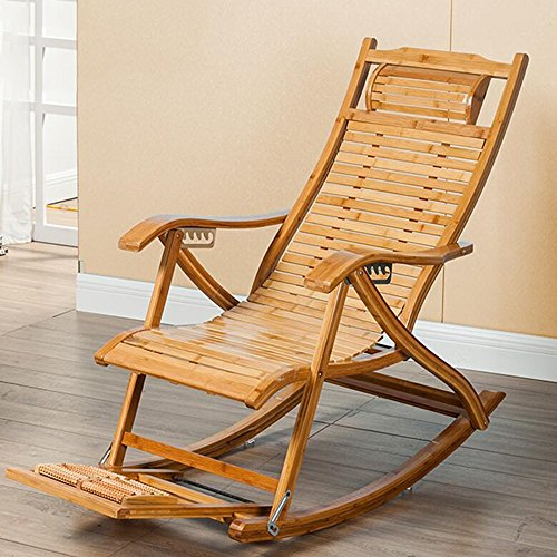 Duo Schaukelstuhl Bambus Schaukelstuhl Älterer Mittagspause Stuhl Stuhl Vollholz Lazy Stuhl Happy Stuhl (Outdoor-schaukelstuhl Klappstuhl)