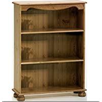 Steens Home Office Pine Bookcase with 2 Shelves - Perfect Bookcases For Any Hallway, Living Rooms, Dining Room, Conservatory and Bedroom
