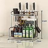 Shelf LYG Küchenwagen Gewürzregal für Küchenschrank und Arbeitsfläche praktischer Küchen-Organizer auf durchsichtig Küchenregal (größe : D)