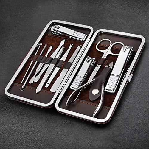 Set Manicure Tagliaunghie Lomio 12 in 1 Set manicure e pedicure professionale, accessori unghie per la bellezza delle unghie di alta qualità