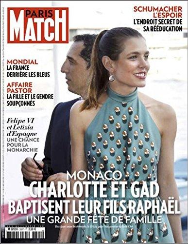 Paris Match n° 3397 - Gad Elmaleh et Charlotte Casiraghi (couv'), les Pixies (1p), le Mondial de football (8p), Cameron Diaz (4p), le fort de Brégançon (7p)/ 25 Juin 2014