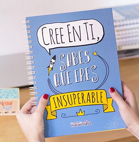 La mente es maravillosa-Cuaderno A4-Regalo para amiga con dibujos-CREE EN TI/ESP