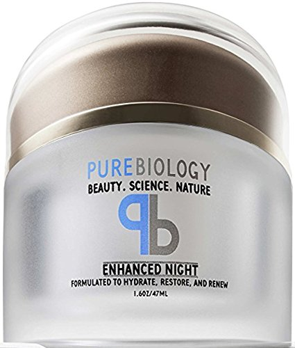 Pure Biology Anti Aging Night Cream w/ Pure Retinol, Hyaluronic Acid & Breakthrough Anti Wrinkle Technology - Moisturizer For Face & Neck (1.6 oz)