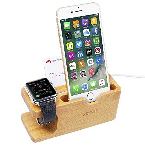 Soporte Cargador de Madera para Apple Watch