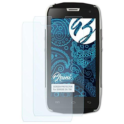 Bruni Schutzfolie kompatibel mit DOOGEE DG 700 Folie, glasklare Bildschirmschutzfolie (2X)