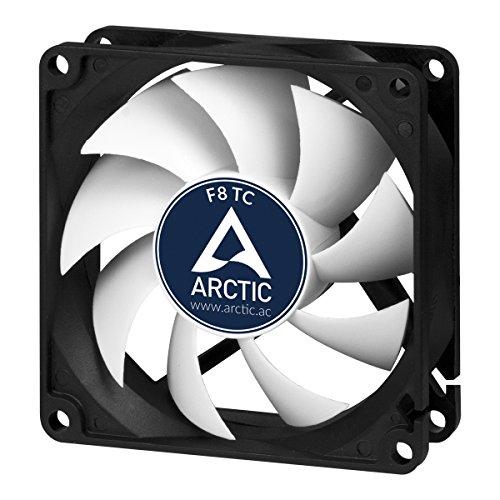 ARCTIC F8 TC - Temperaturgesteuerter 80 mm Gehäuselüfter | Standard Case Fan | Temperatursensor reguliert RPM | Push- oder Pull-Konfiguration