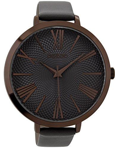 Oozoo Damen-Armbanduhr Elefantengrau 48 mm C9217