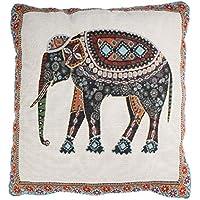 Tongshi Cama Moda Retro Inicio Alquiler cubierta del amortiguador del sofá Pillow Case Elefante decorativo de