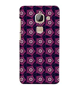Printvisa Maroon Pentagon Pattern Back Case Cover for LeEco Le 2::LeTV Le 2