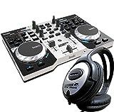 Hercules DJ Control Instinct S Serie 2-Deck Controller + KEEPDRUM Kopfhörer