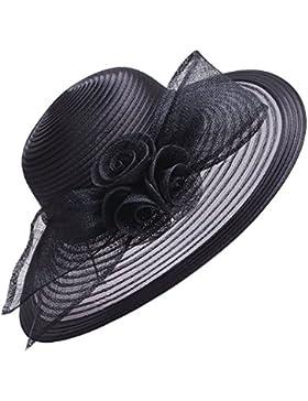 Sombrero de ala ancha de Lawliet para mujer, formal, para bodas, iglesia, el derby de Kentucky, el Royal Ascot