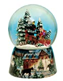 Musicbox Königreich 48082Kutsche Snow Globe Musik Box, dreht Sich zur Melodie Winter Wonderland