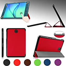 """e-PlanetPro Samsung Galaxy Tab A 8.0"""" Case - Luxury Ultra Slim Protective Shell, Shockproof, Drop Resistance, Anti-Dust Cover for Samsung Galaxy Tab A 8.0"""" (Wi-Fi, 3G/4G/LTE all models) with Sleep/Wake Up function! RED"""