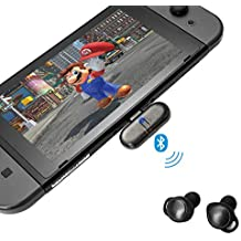 GuliKit Adaptador Bluetooth para Nintendo Switch, Route+ USB C Wireless Bluetooth Audio Transmisor con Aptx de Baja Latencia, Plug-N-Play Compatible con Auriculares Bluetooth, Altavoz, PC