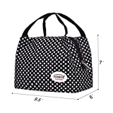 Aosbos Recycled Insulated Lunch Box Tote Cooler Bag (Polka Dots)