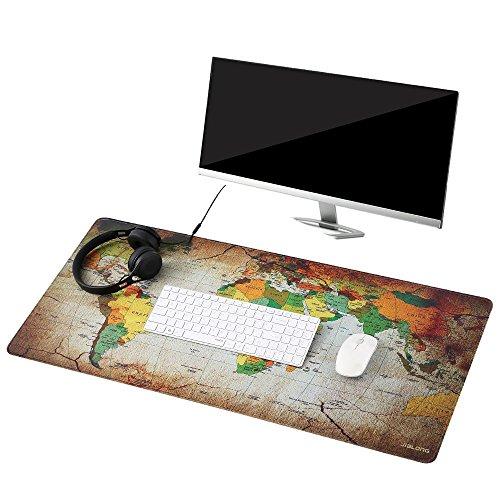Preisvergleich Produktbild Befitery Gaming Mauspad XXL Rutschfeste Schreibtischunterlage Mausunterlage für Computer PC Laptop 900 x 400 x 2 mm (Weltkarte-1)
