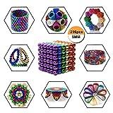 Puzzle de Bolas Magneticas de Neodimio, Puzle de Bolas de 216 Bolas Magnéticas 5mm (Colored)