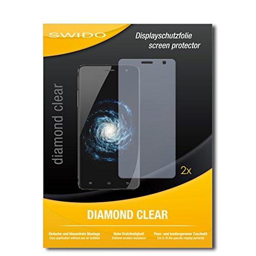 SWIDO 2 x Bildschirmschutzfolie Cubot H1 Schutzfolie Folie DiamondClear unsichtbar