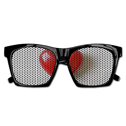 EELKKO Mesh Sunglasses Sports Polarized, 3D Illustration of Valentines Heart In Between Words Made with Heart Shaped Font,Fun Props Party Favors Gift Unisex