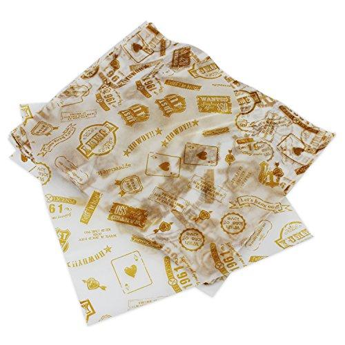 PsmGoods® 100 PCS Wachs Papier für Kuchen Brot Wrapper-Antihaft (Post Type)
