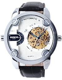 YESURPRISE 051597–Armbanduhr Herren, Lederband