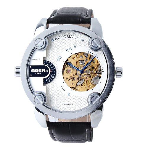 Yesurprise 051597–Reloj de pulsera de hombre, correa de piel