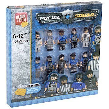 10 Block Tech Figures Assorted Building Block Character Sets (Police Squad)