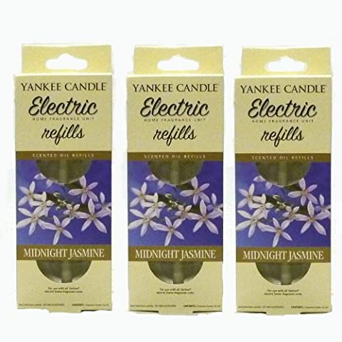 Yankee Candle - 3x Midnight Jasmine Electric Plug-In Refill Twin