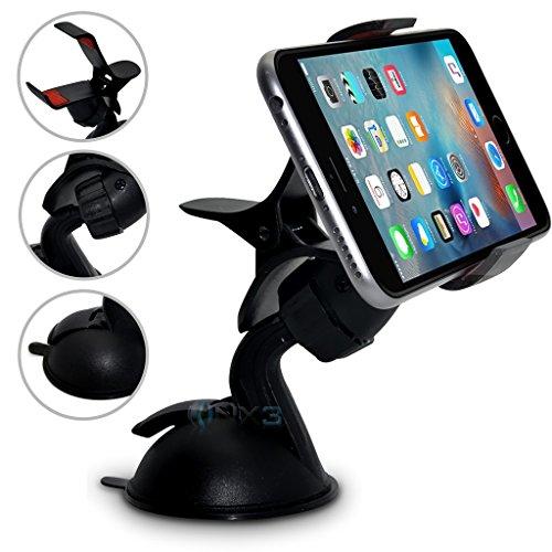 (SuperClaw Black) Motorola Moto G Dual SIM (3rd gen) Windschutzscheibe Handy Smart-Auto-Armaturenbrett Halterung Halter ONX3®