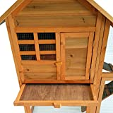 Cabaa-para-pequeos-roedores-XXL-Clapier-jaula-de-conejo-con-Enclos-en-madera