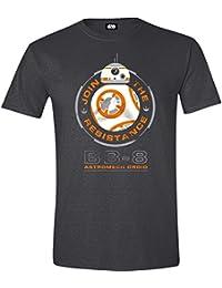 Star Wars Episode 7 - The Force Awakens - BB-8 Astromech Droid T-shirt gris sombre chiné