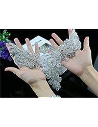 QueenDream Rhinestone Applique Pequeño Rhinestone Aplique DIY Applique para vestido de boda o cinturón ...