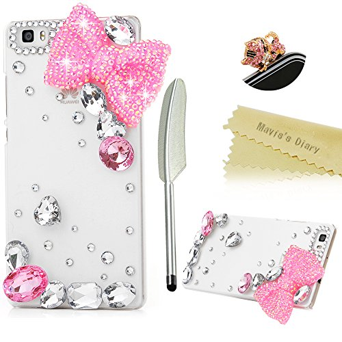 maviss-diary-huawei-p8-lite-case-3d-handmade-bling-crystal-lovely-pink-bow-with-water-drop-gems-shin