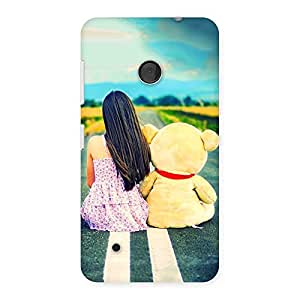 Enticing Teddy Girl Cute Multicolor Back Case Cover for Lumia 530
