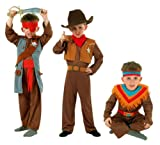 Cesar Pack 3 disfraces de vaquero, indio y pirata para niño (de 5/7 años)