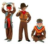 Cesar - Q728-001 - Costumes - 3 en 1 Garçon Cow Boy / Indien / Pirate Cintre - 5/7 ans