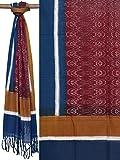 Multicolor Pochampally Ikat Cotton Handloom Dupatta