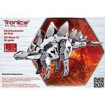 Tronico Metallbaukasten, Dinosaurier, Stegosaurus, Aluminium, Teile zum Biegen, Schrauben und Muttern aus Metall, 88 Teile, bebilderte Aufbauanleitung, inklusive Werkzeug, ab 10 Jahren, rcee