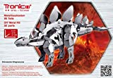 Metallbaukasten Dino Dinosaurier Stegosaurus Steckbausatz 3D Bausatz Stecksystem 88 Teile ab 12 Jahren Anleitung Roboter Modellbau Kit Set Erwachsene Metallbaukästen Technik Lernfeld Tronico