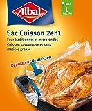 Albal 5 Sacs Cuisson, Four et Micro-ondes, régulateur de cuisson, Capacité 5 kg, Lot de 2