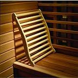 Manici ergonomici ruekenlehne Relax fuer e cabine Sauna a infrarossi, in pregiato laubholz.