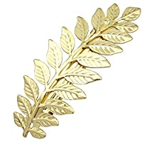 RechicGu Festival Bridal Gold Leaf Branch French Updo Gold Tone Hair Pin Clip Dress Snap Barrette