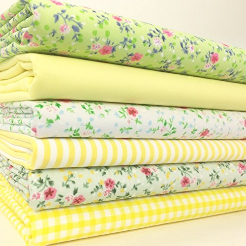 always-knitting-sewing-6-fat-quarter-bundle-polycotton-fabrics-spring-greens-20-x-22-inches