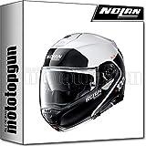NOLAN CASCO MOTO MODULARE N100-5 PLUS DISTINCTIVE METAL BIANCO 022 TG. XS