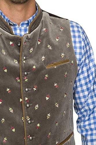 Stockerpoint - Herren Trachten Weste in verschiedenen Farbtönen, Calzado, Größe:50, Farbe:Stein - 5